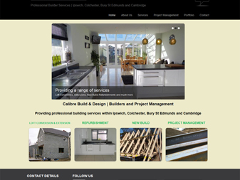 Calibre Build & Design Website