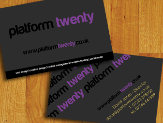 Platform Twenty Business Cards