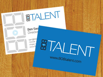 808 Talent Business Cards