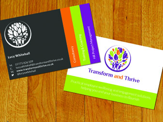 Transform & Thrive Business Cards